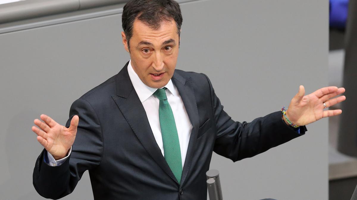 Cem Özdemir bei einer Rede im Deutschen Bundestag