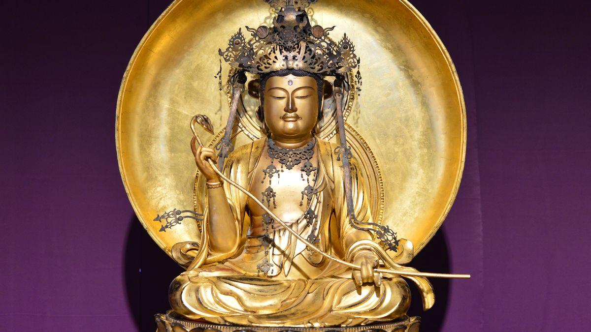 Goldene Buddha-Statue im Siebold-Museum