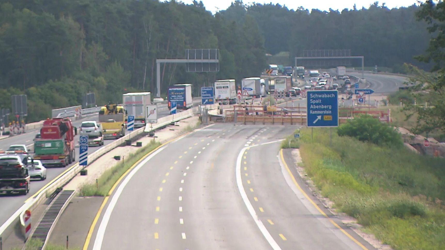 Baustelle auf der Autobahn