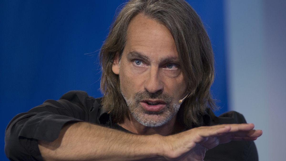 Der Philosoph und Autor Richard David Precht bei einem Auftritt auf der Frankfurter Buchmesse 2019