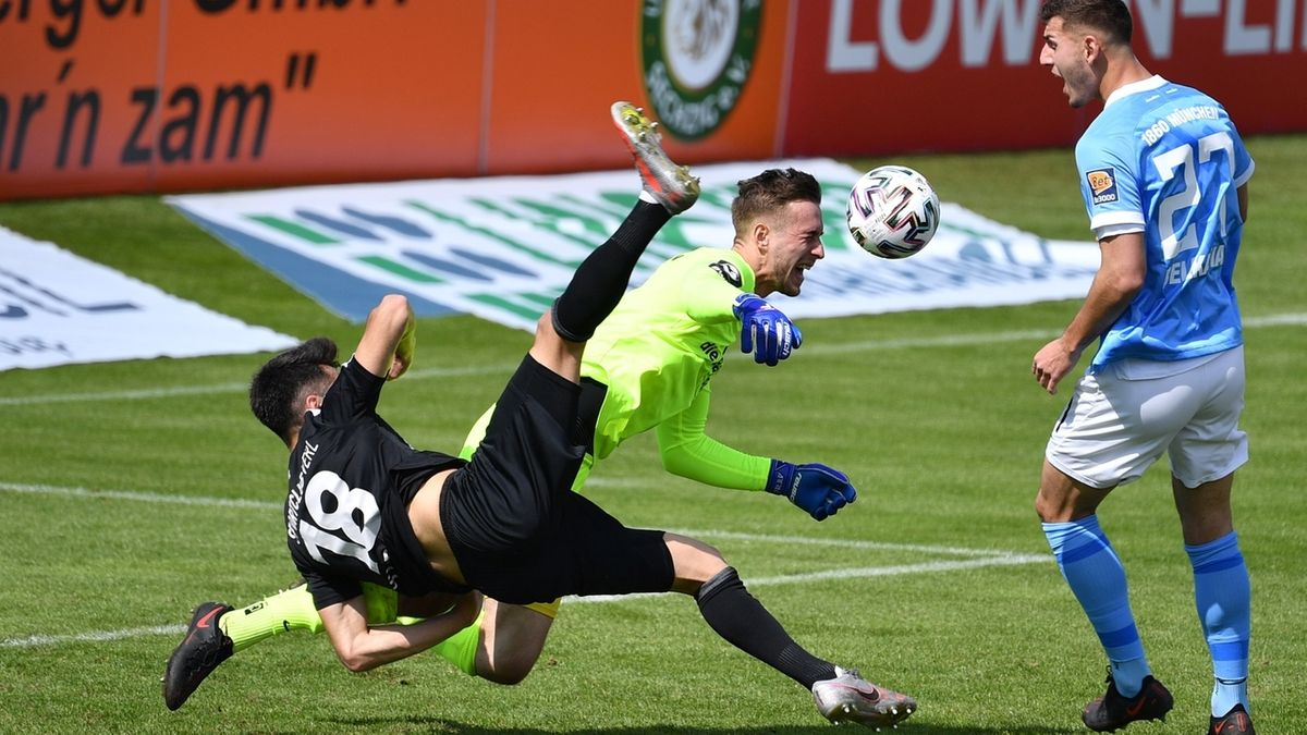 Spielszene TSV 1860 München - SC Verl