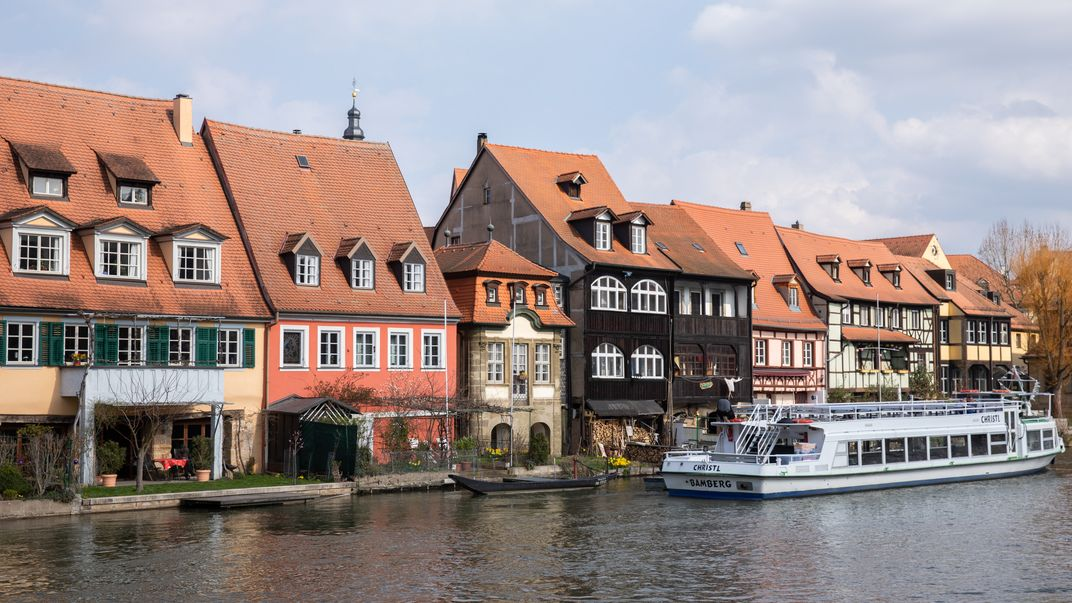 Häuser an der Regnitz in Bamberg