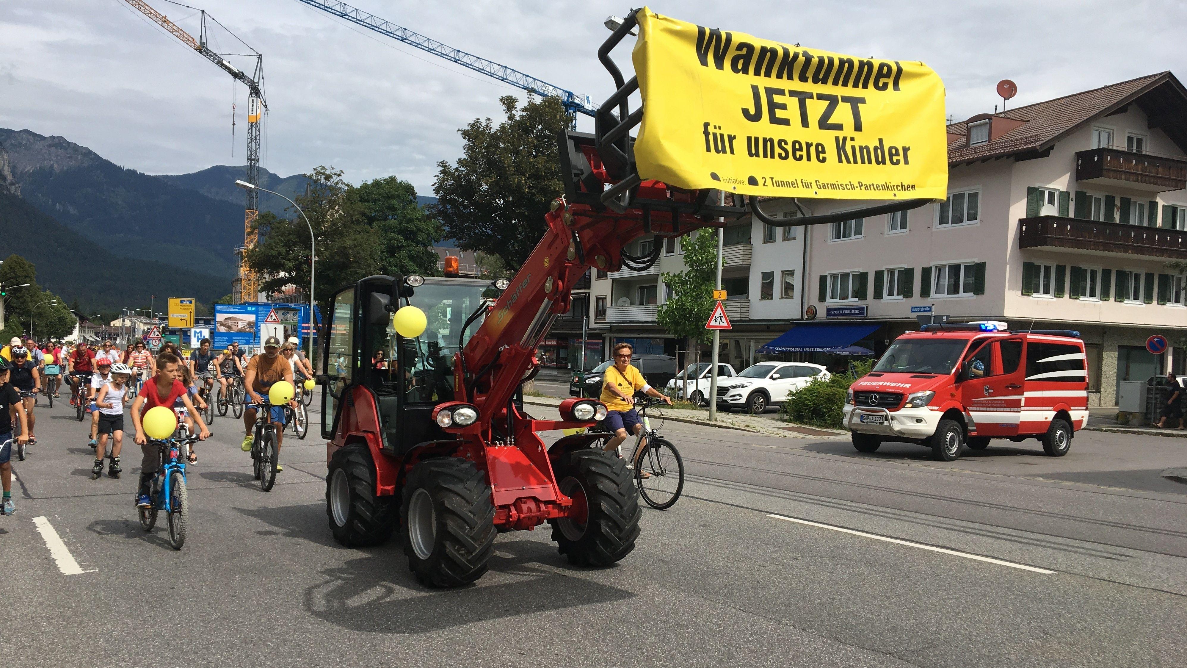 Radl-Demo in Garmisch-Partenkirchen am 27.07.2019