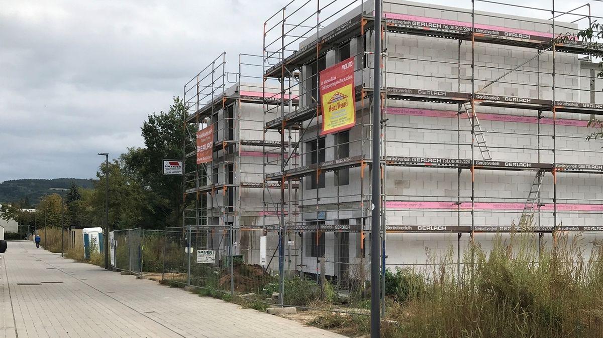 Neubaugebiet in Aschaffenburg/Nilkheim