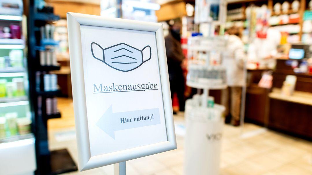 Kostenlose FFP2-Masken: Ansturm auf unterfränkische Apotheken (Symbolbild)