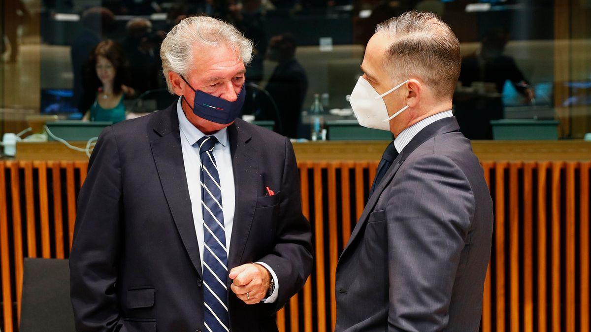 Luxemburgs Außenministerinister Jean Asselborn (l.) mit Außenminister Heiko Maas