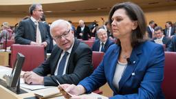 Thomas Kreuzer, Ilse Aigner (CSU) | Bild:dpa-Bildfunk/Sven Hoppe