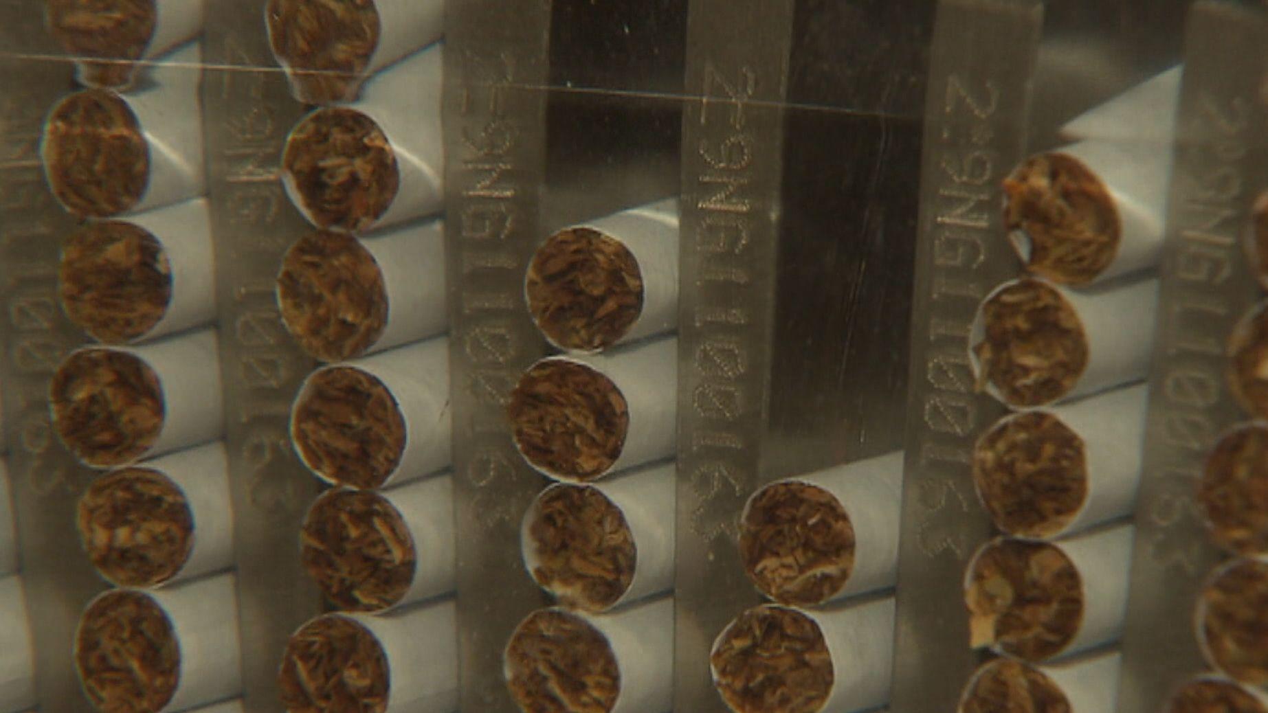 Zigaretten in der Fertigung von BAT in Bayreuth
