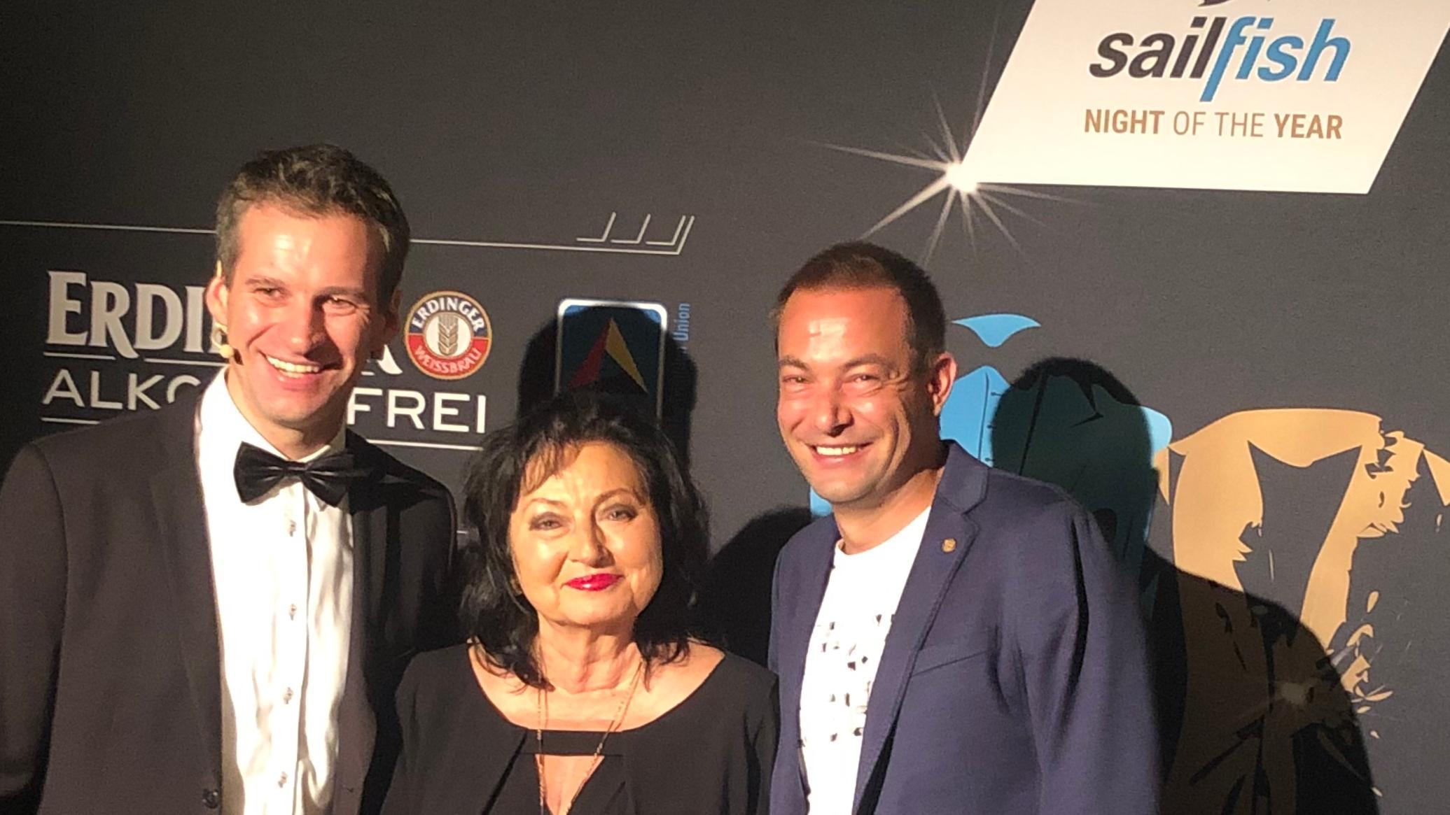 von links nach rechts: Frank Wechsel, Alice Walchshöfer, Felix Walchshöfer bei der Preisverleihung