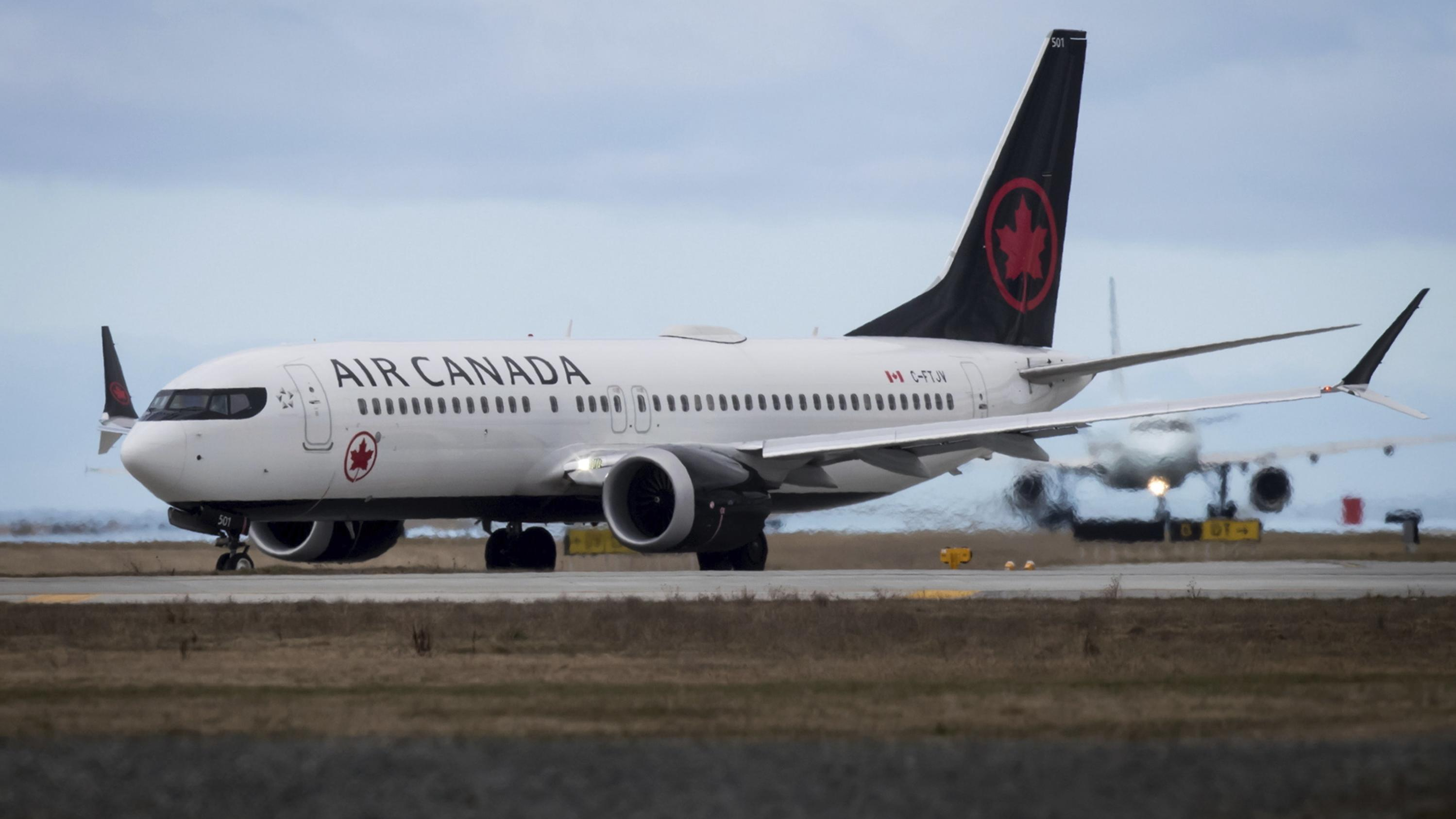 Flugzeug vom Typ Boeing 737 Max 8 der Fluggesellschaft Air Canada
