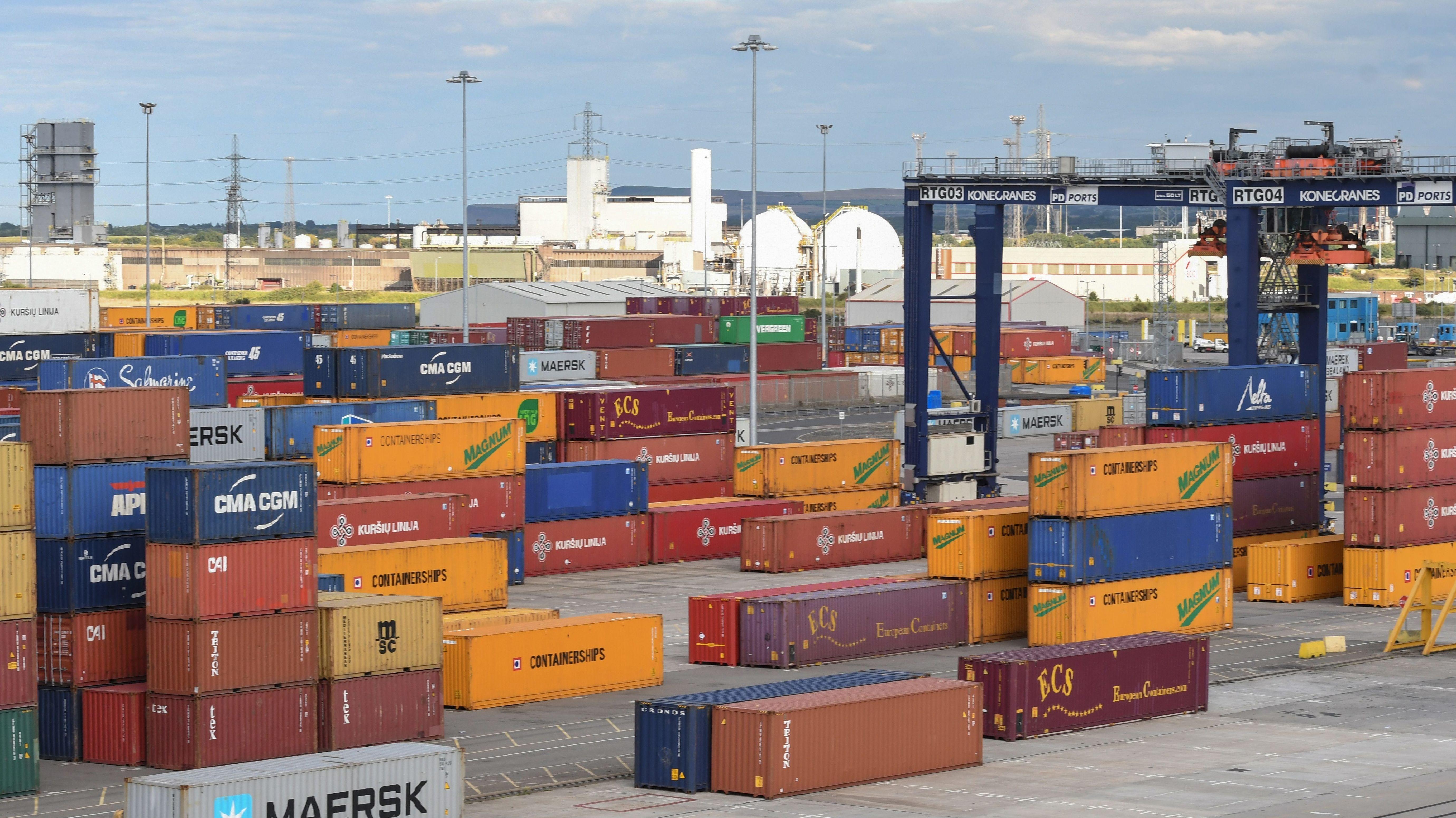 Containerhafen (Symbolbild)