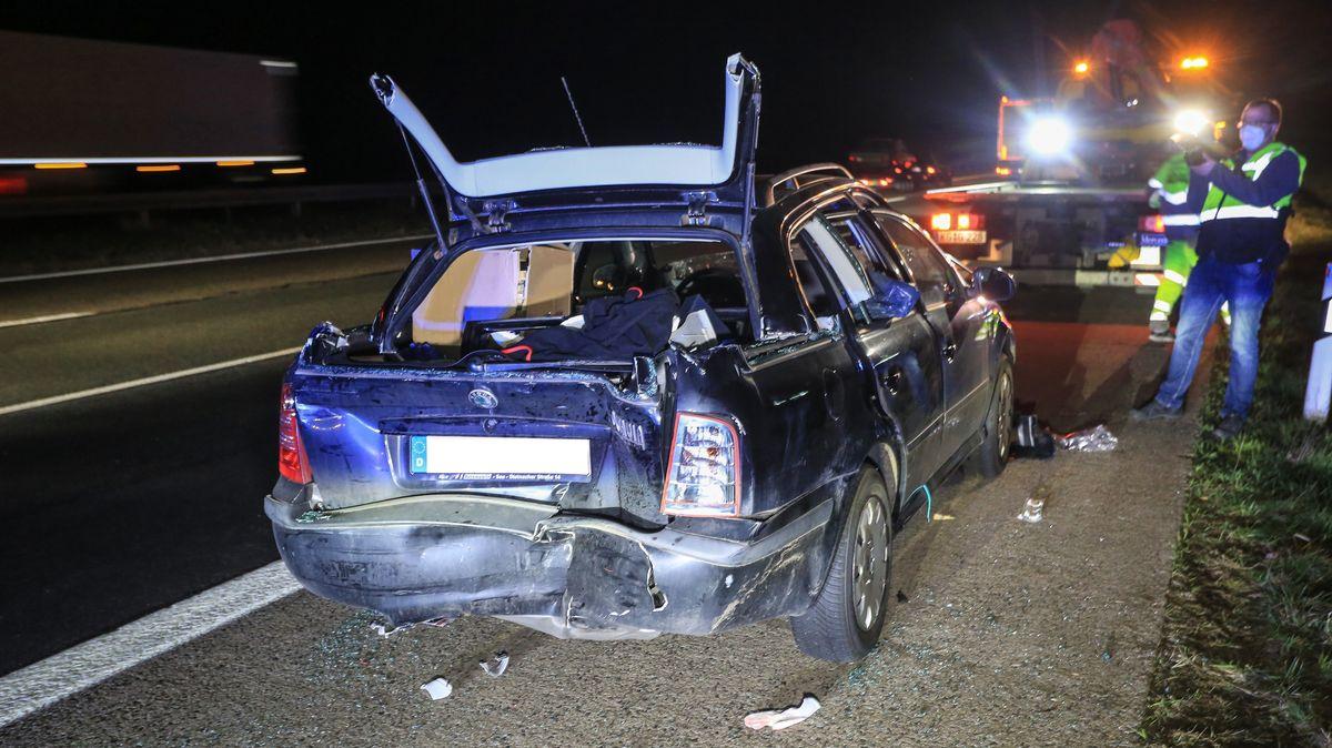 Verkehrsunfall auf der A7 bei Elfershausen