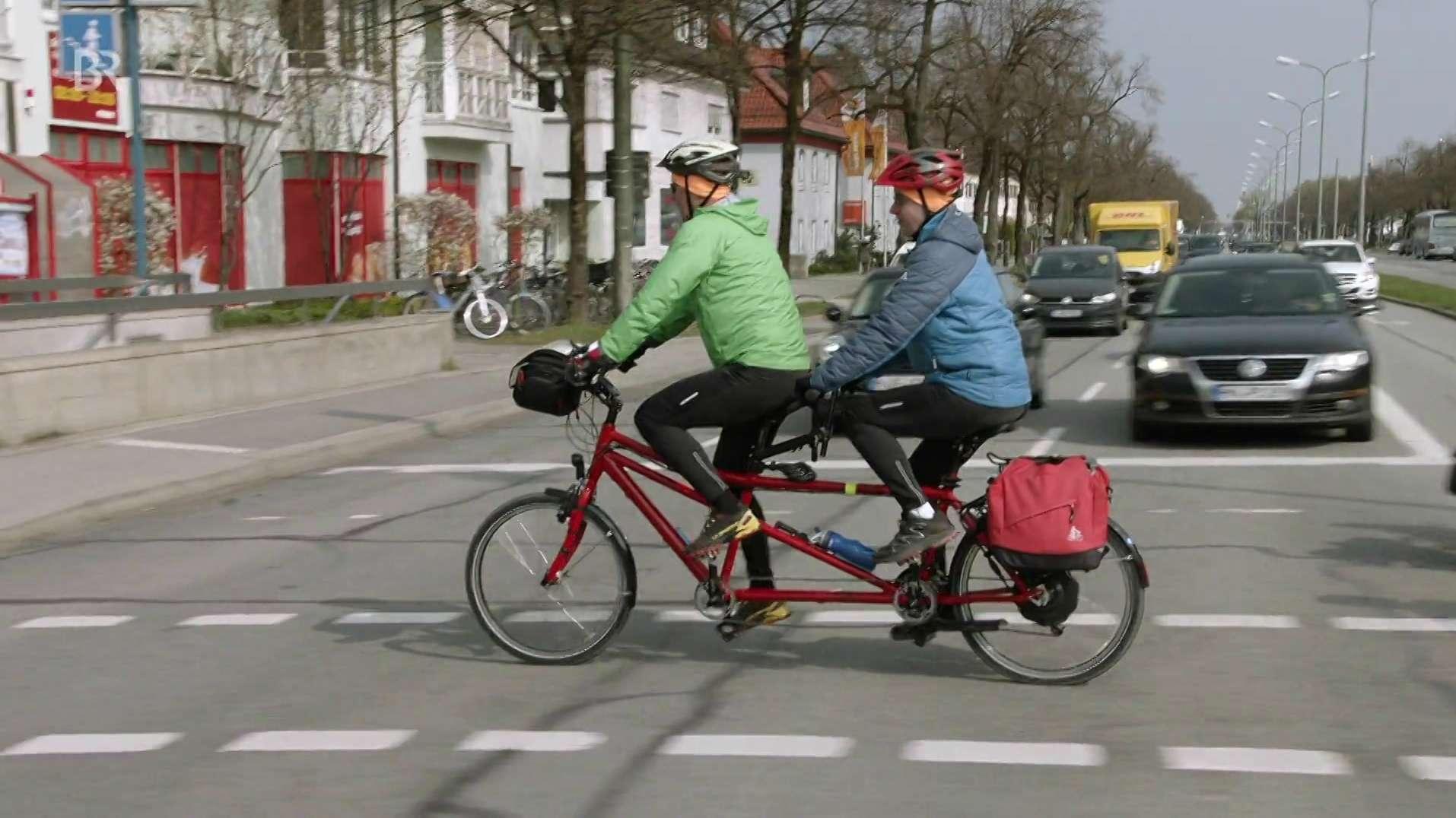 Tandemradtour für blinde und sehende Menschen
