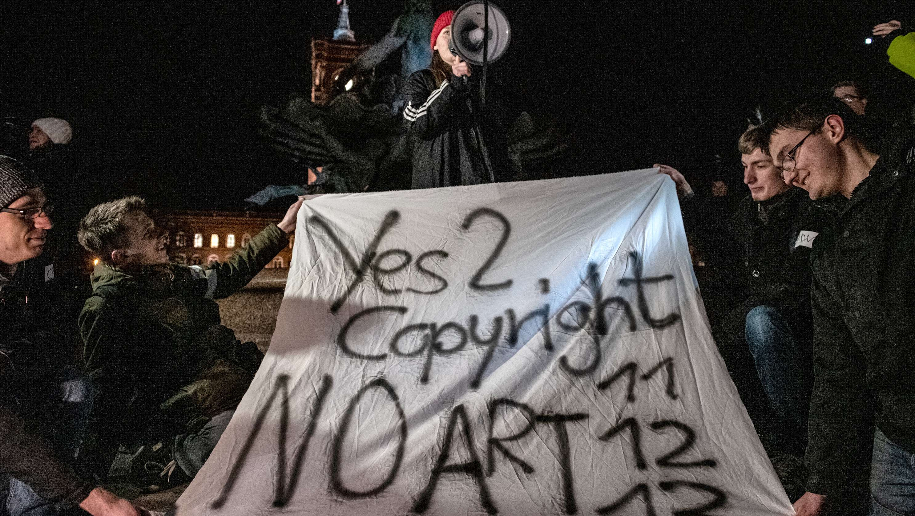 Demonstration in Berlin gegen die Reform des EU-Urheberrechts