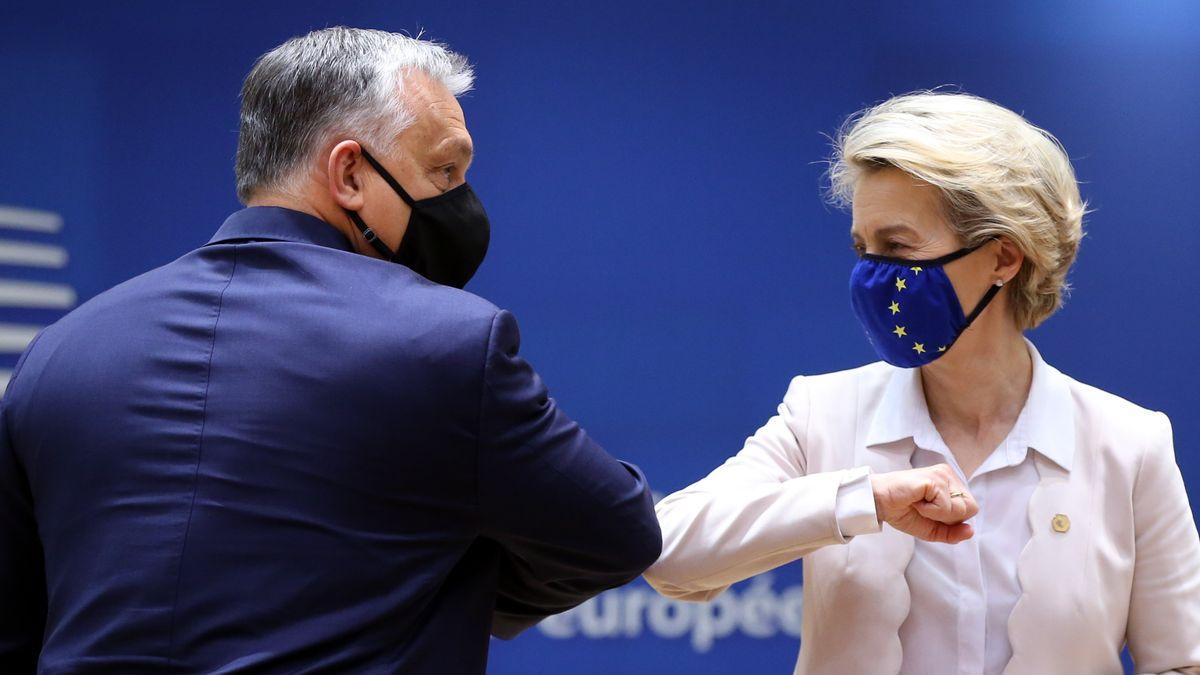 EU-Kommissionschefin von der Leyen gemeinsam mit dem ungarischen Ministerpräsidenten Orban.
