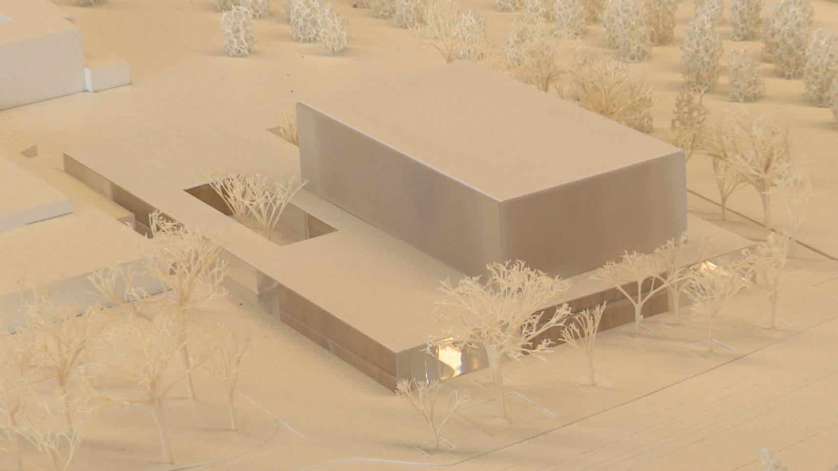Entwurf für den neuen Nürnberger Konzertsaal
