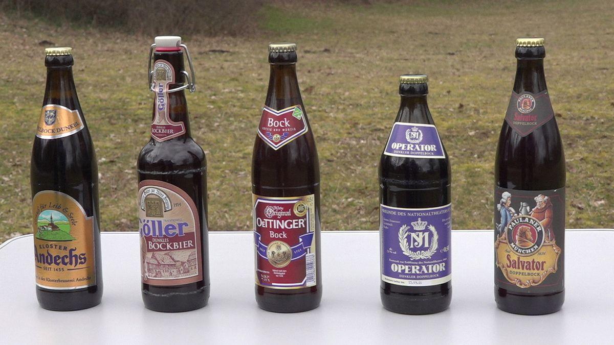 Fünf Biere aus Bayern
