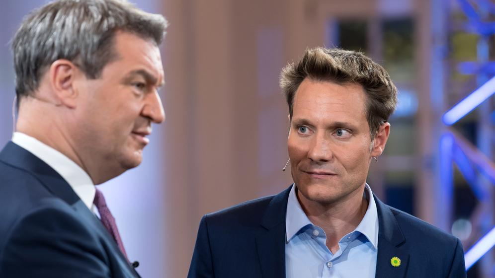 Markus Söder (links) und Ludwig Hartmann | Bild:picture alliance/Sven Hoppe/dpa