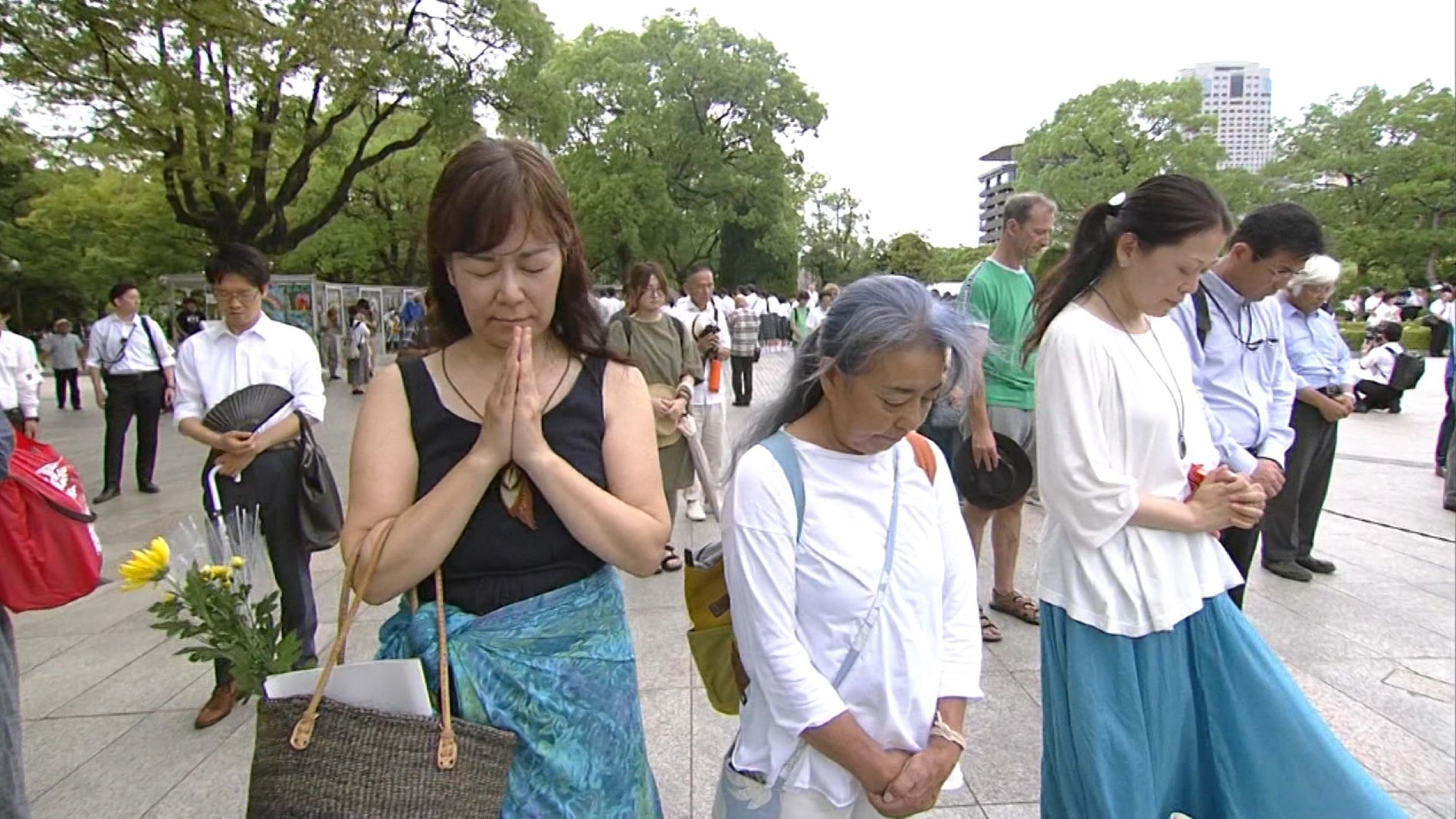 Schweigeminute in Hiroshima