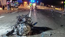 Verkehrsunfall nahe Garching   Bild:BR / Pfeifer