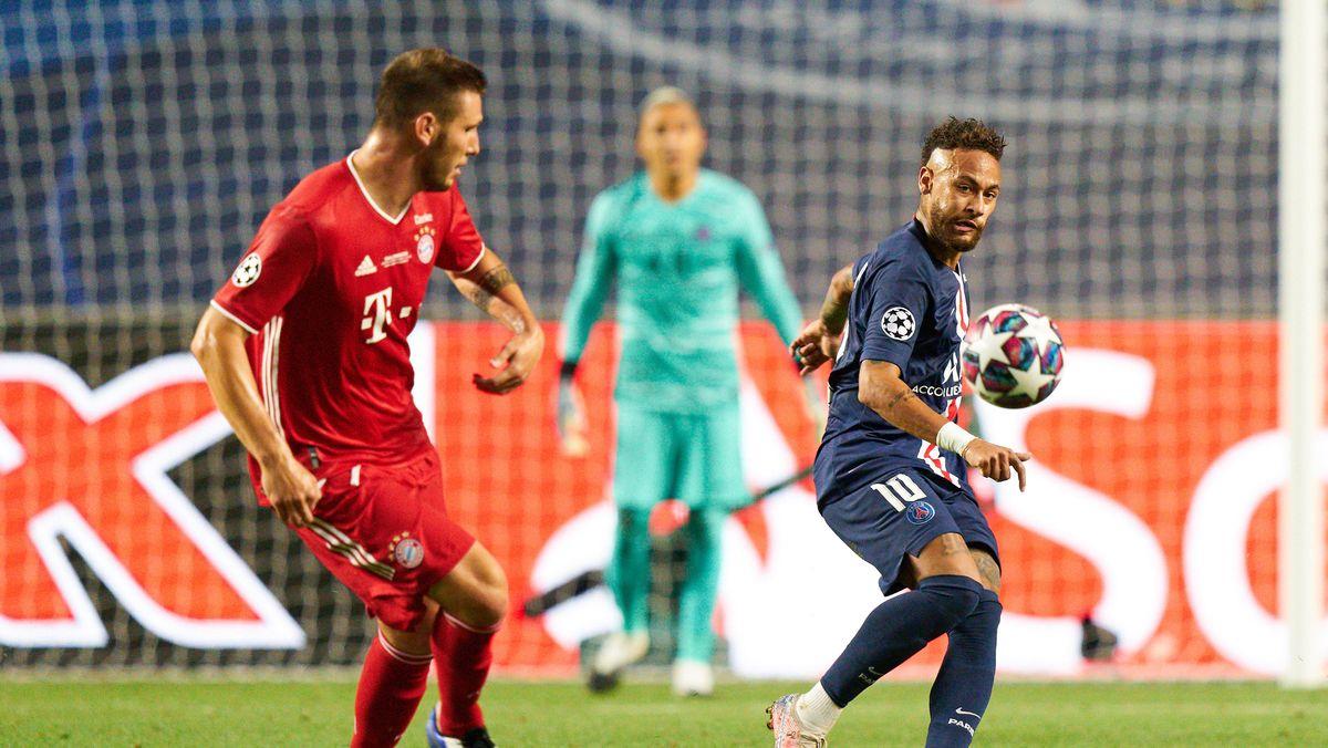 Spielszene aus dem Champions-League-Finale 2020 zwischen FC Bayern und Paris St. Germain