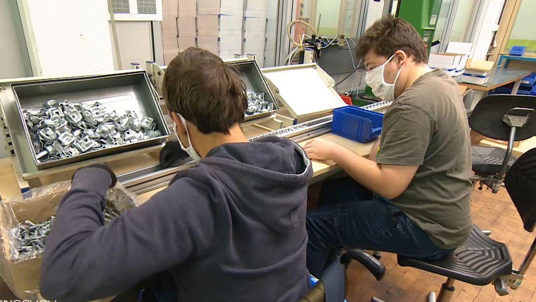 In der Noris-Inklusion Nürnberg, einer Werkstatt für Menschen mit Behinderung