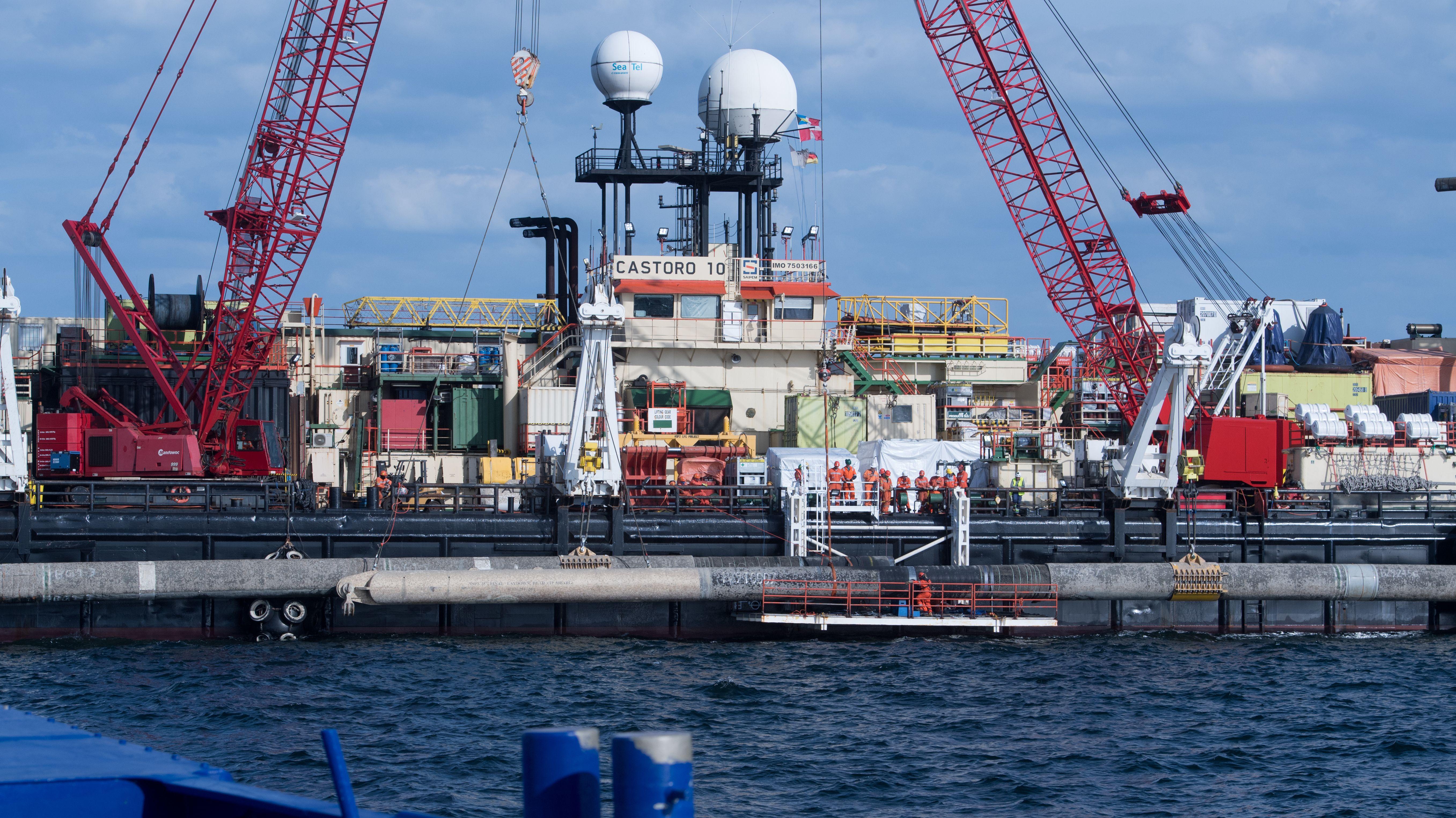 Schiff zur Verlegung von Pipeline-Rohren des Nord Stream 2