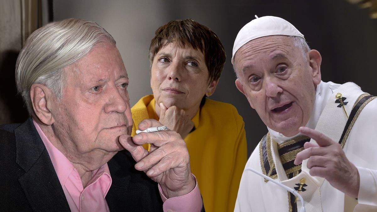 Helmut Schmidt, Margot Käßmann und Papst Franziskus