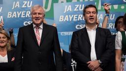 CSU-Chef Horst Seehofer (links)  und Ministerpräsident Markus Söder (ebenfalls CSU)   Bild:Sven Hoppe, dpa