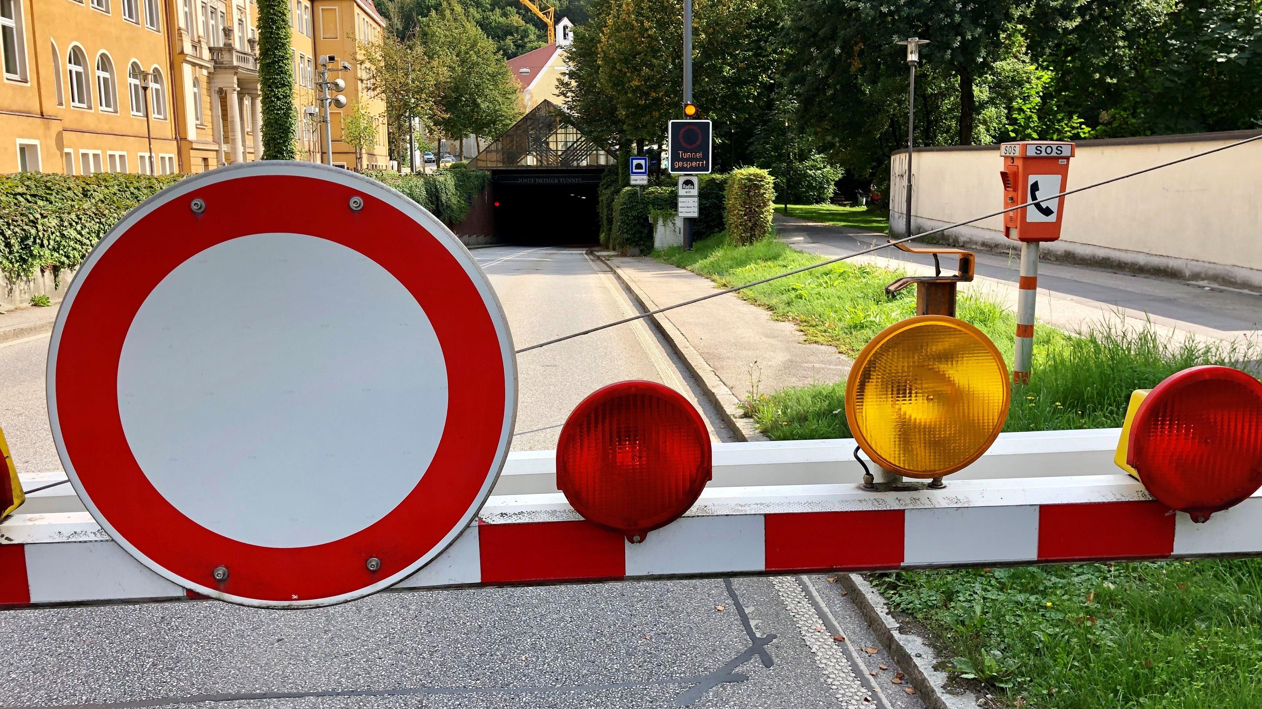 Wieder Funkstörungen: Josef-Deimer-Tunnel erneut gesperrt