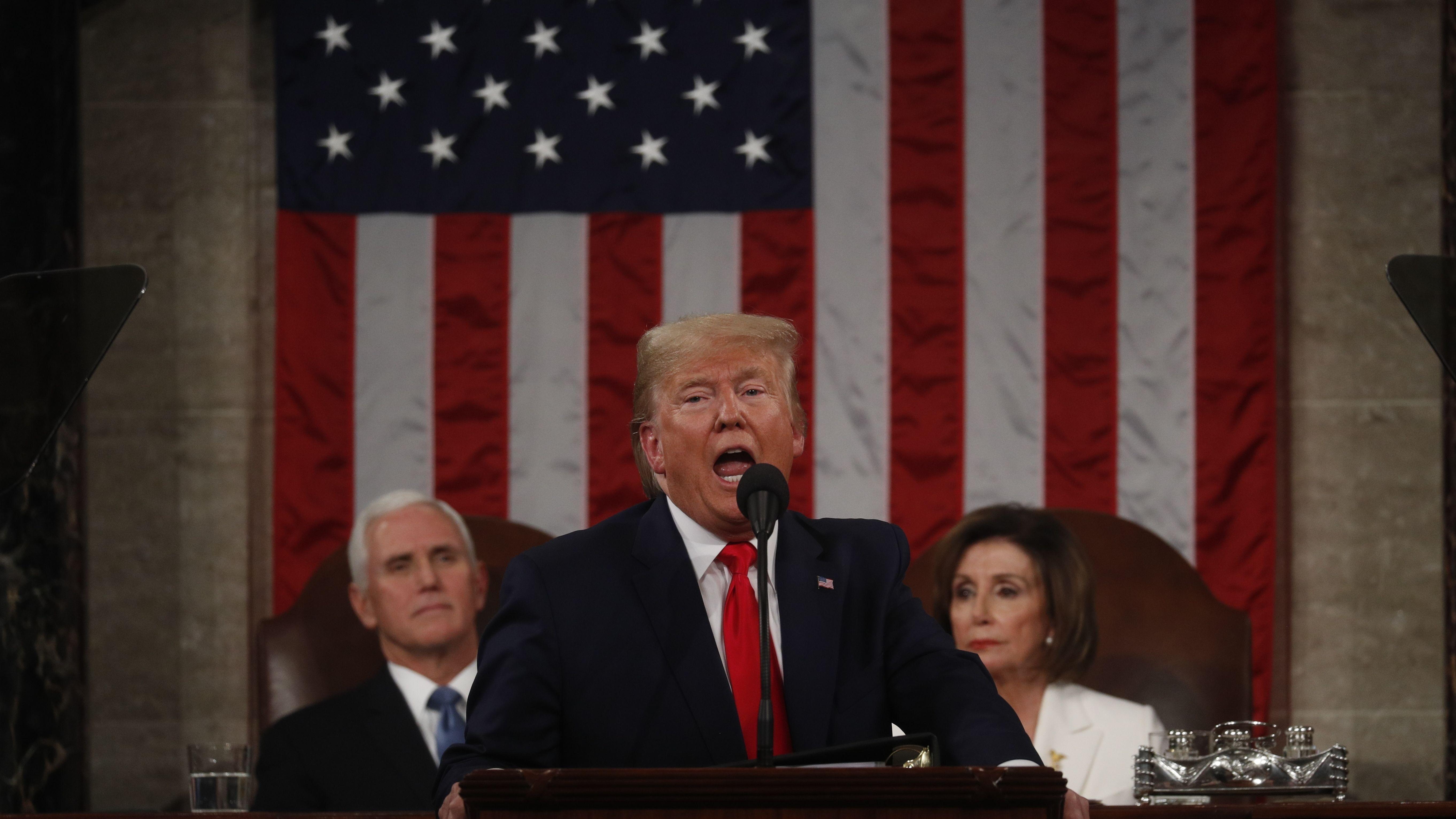 Rede zur Lage der Nation - Trump rühmt seine Wirtschaftspolitik