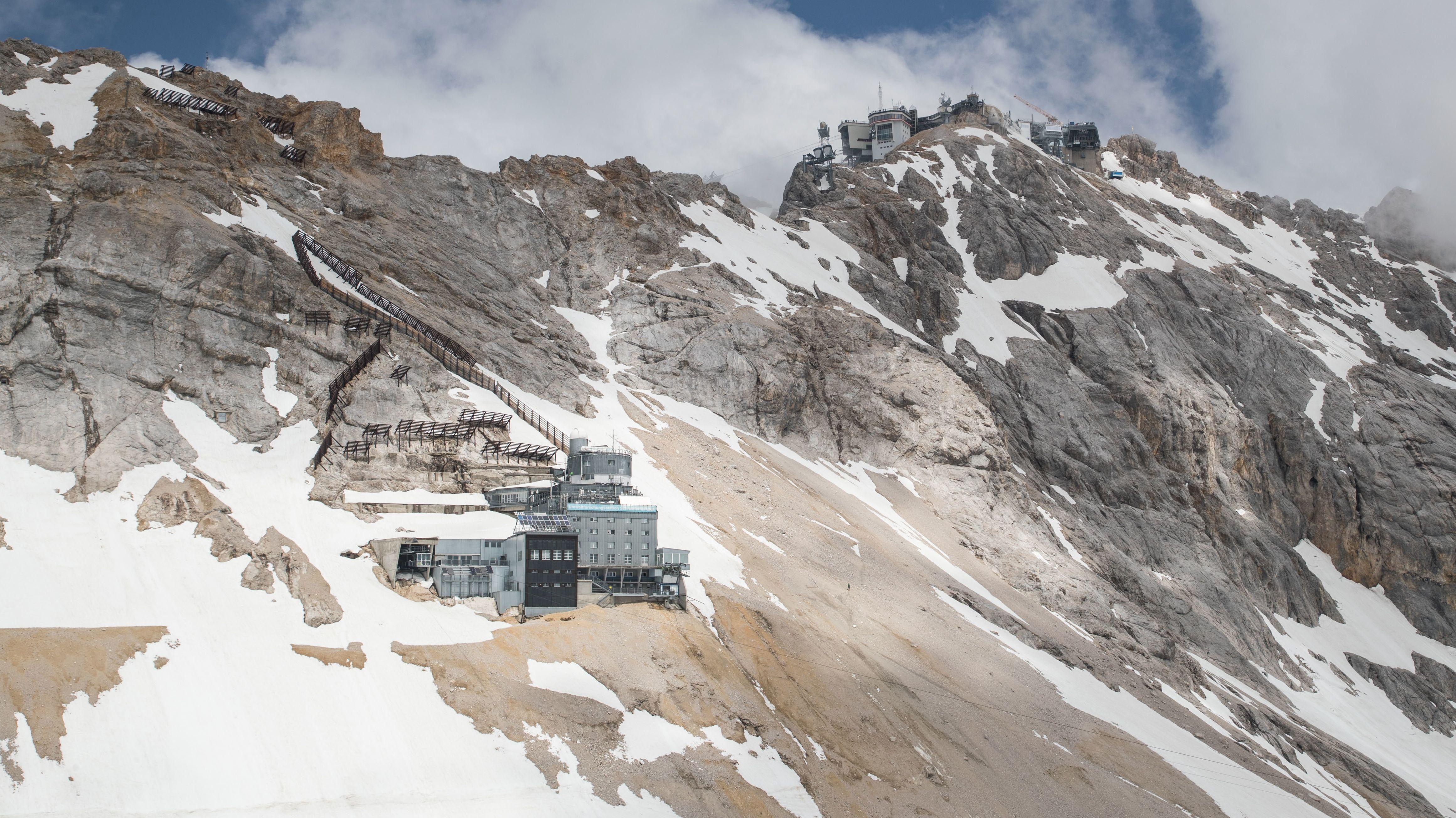 Das Schneefernerhaus in den Alpen