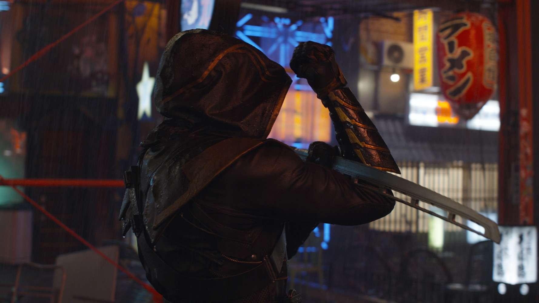 "Hawkeye (Jeremy Renners) in ""Avengers: Endgame"""
