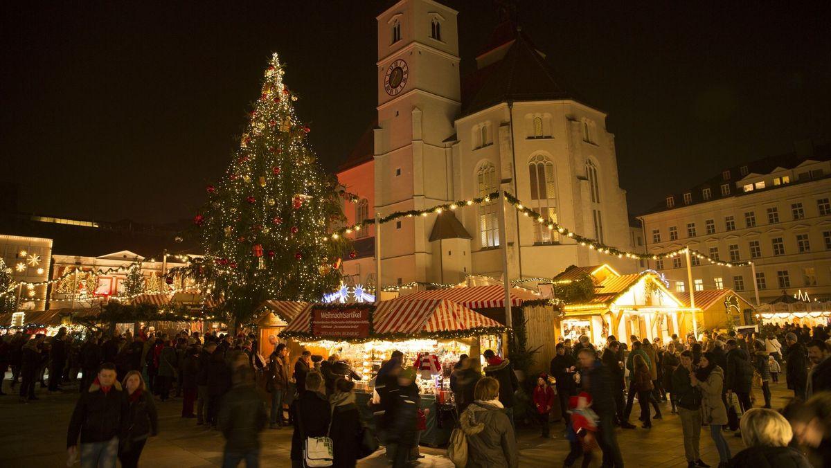 In diesem Jahr gibt es keinen Christkindlmarkt am Regensburger Neupfarrplatz