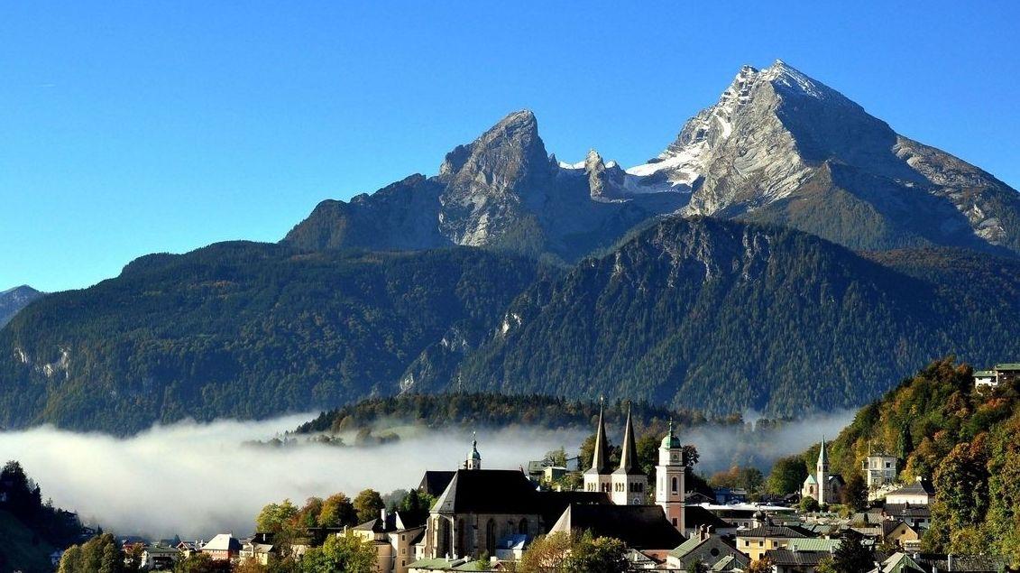 Berchtesgaden mit Watzmann.