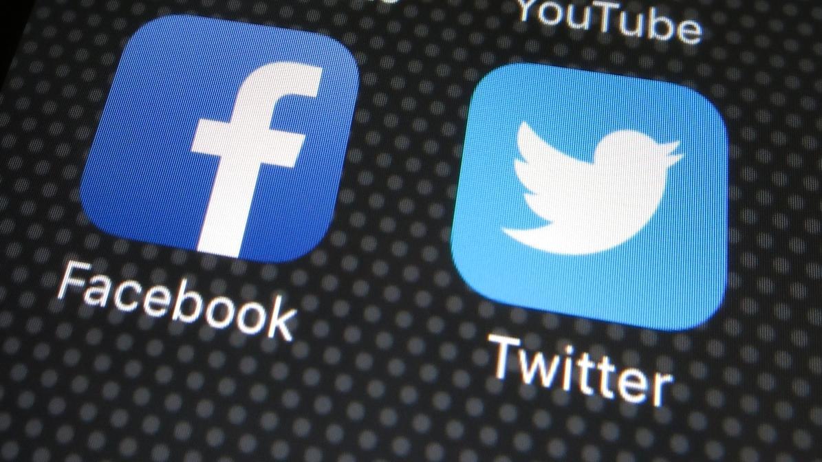 Facebook- und Twitter-Symbole