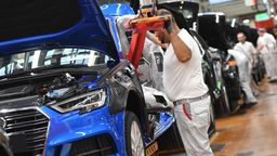 Audi-Produktion in Deutschland | Bild:picture-alliance/dpa