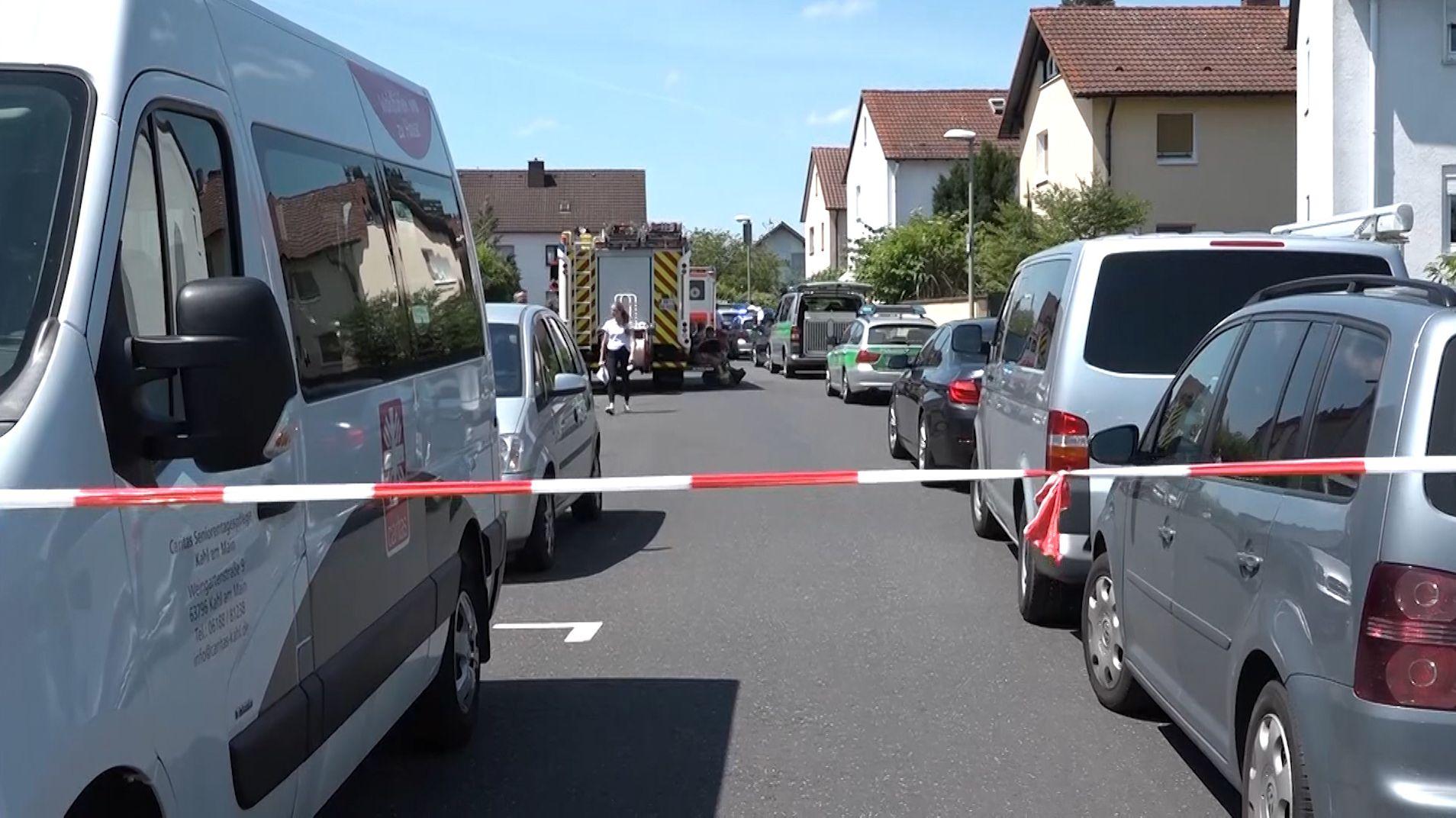 Agesperrter Tatort in Kahl am Main