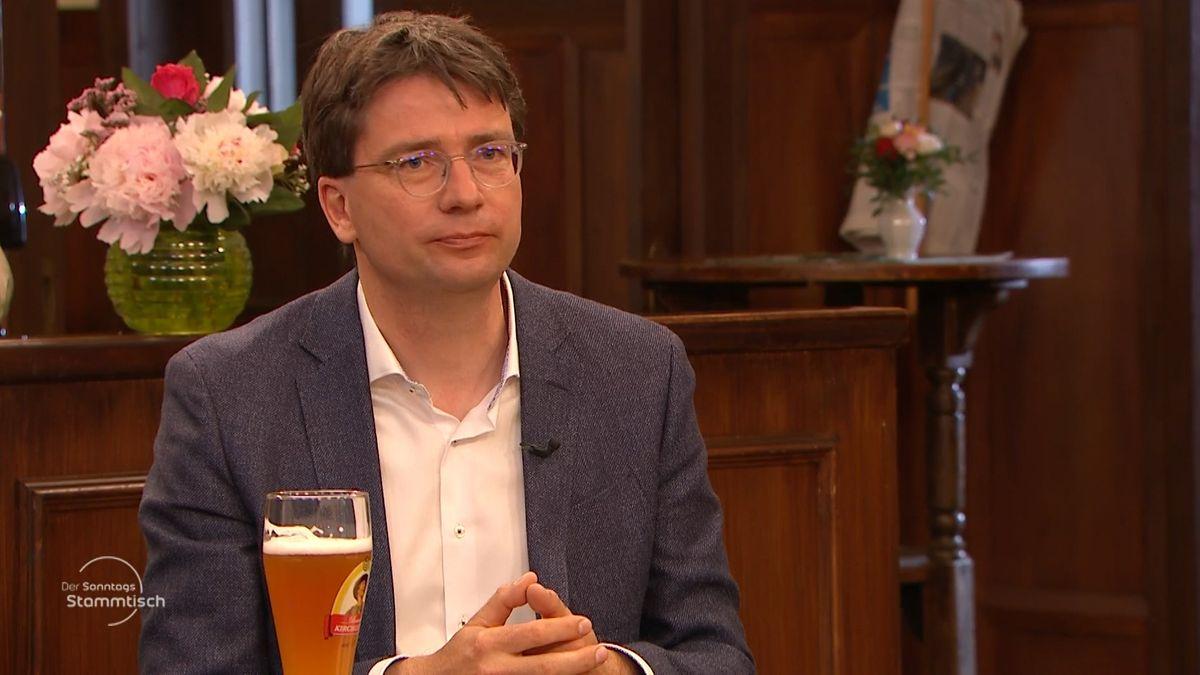 SPD-Politiker Florian von Brunn beim BR Sonntags-Stammtisch