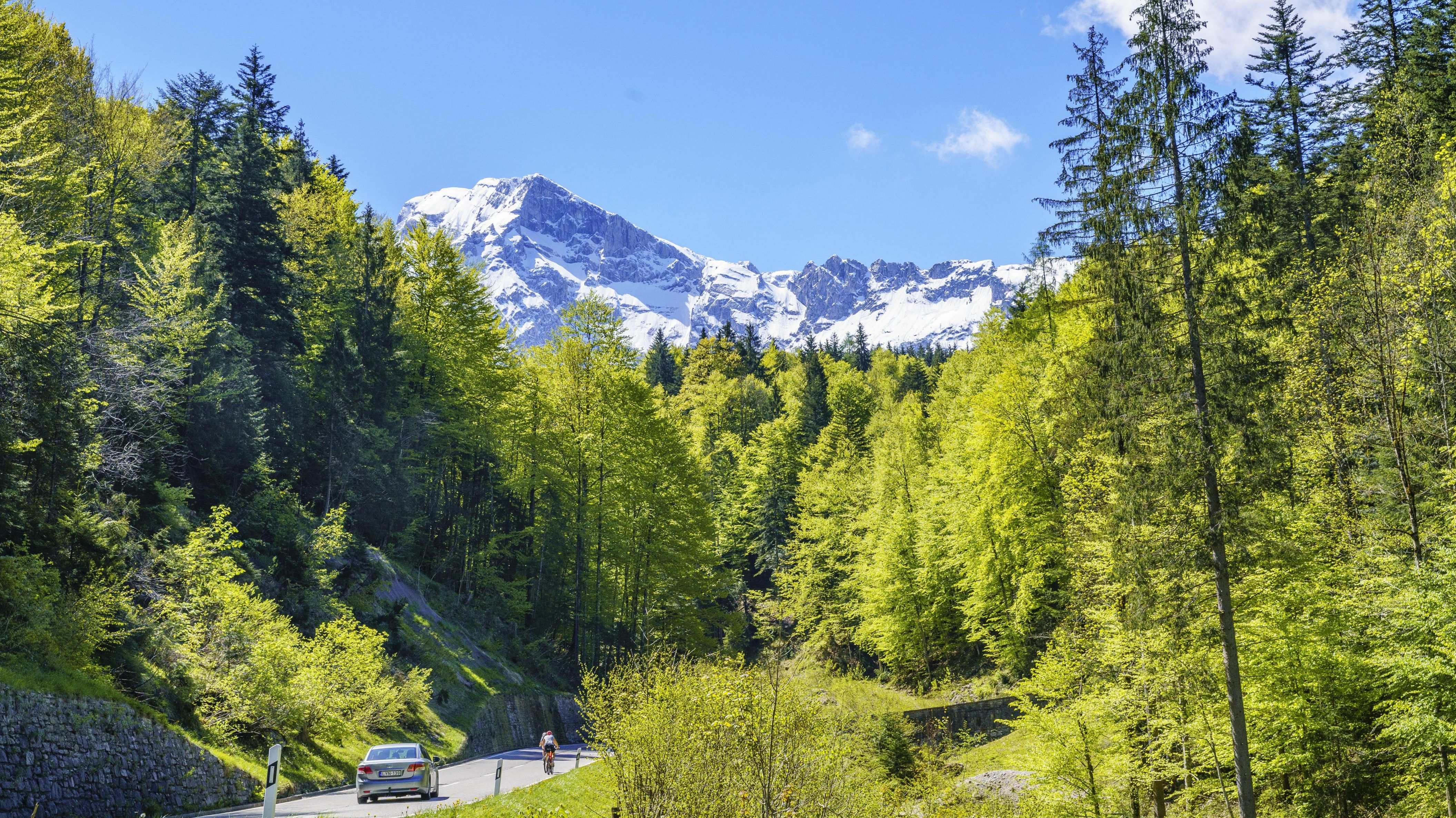 Der Blick hinauf zum Hoher Göll und zum Mandlgrat zwischen Göll und Kehlstein in den Berchtesgadener Alpen (Symbolbild)