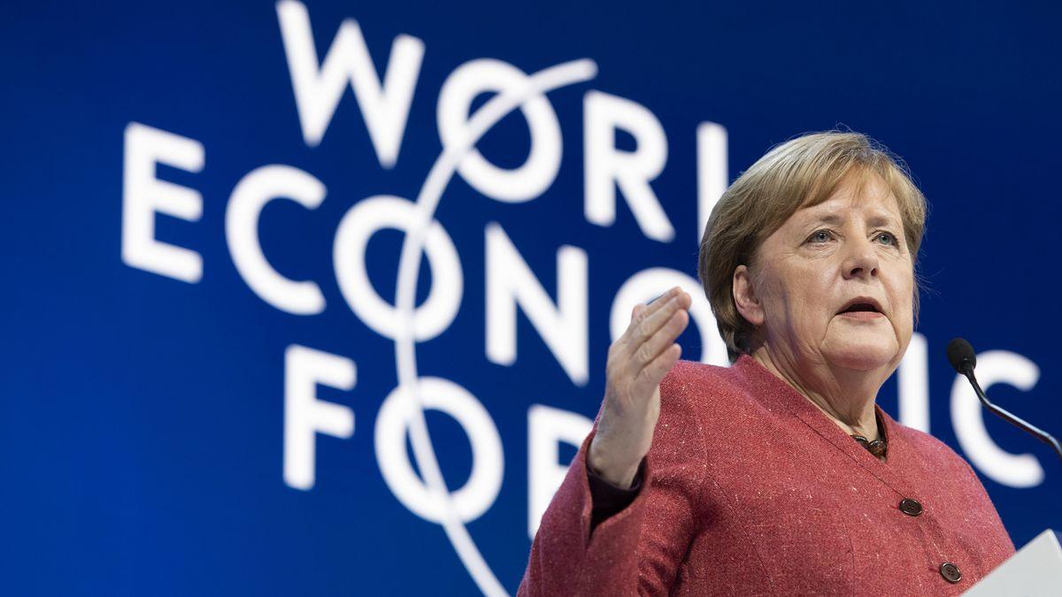 Bundeskanzlerin Merkel betonte vor dem Weltwirschaftsforum in Davos die Wichtigkeit einer internationalen Zusammenarbeit beim Klimaschutz.