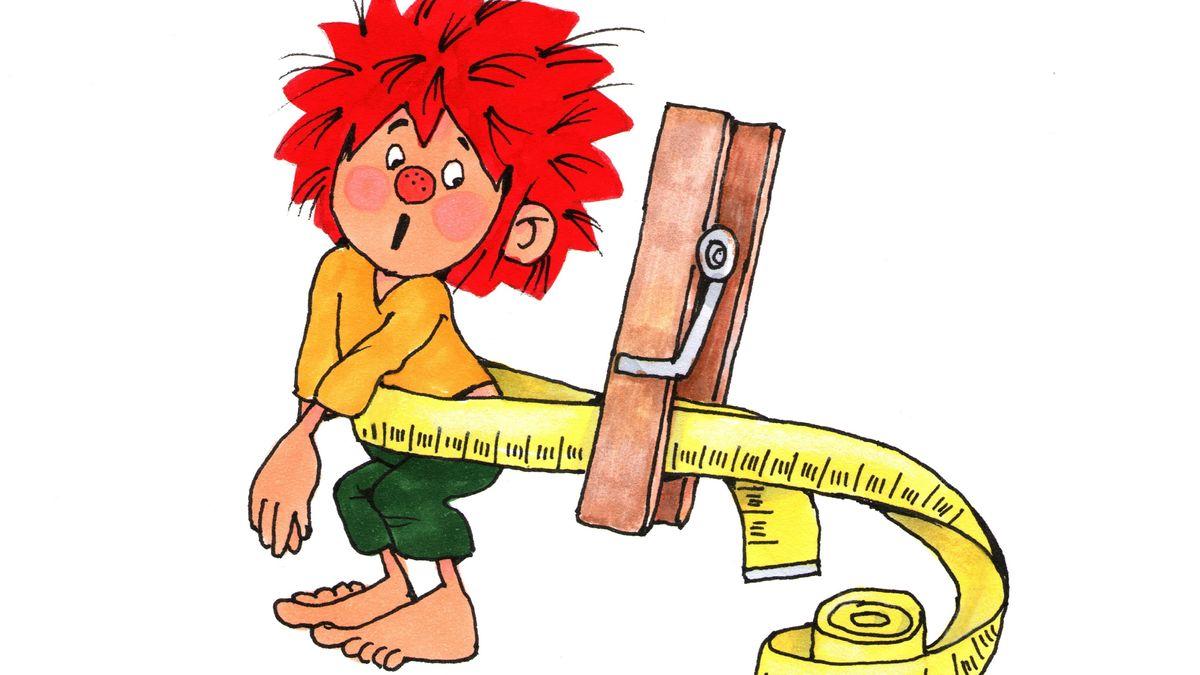 """Die undatierte Grafik zeigt die Zeichentrickfigur """"Pumuckl""""."""