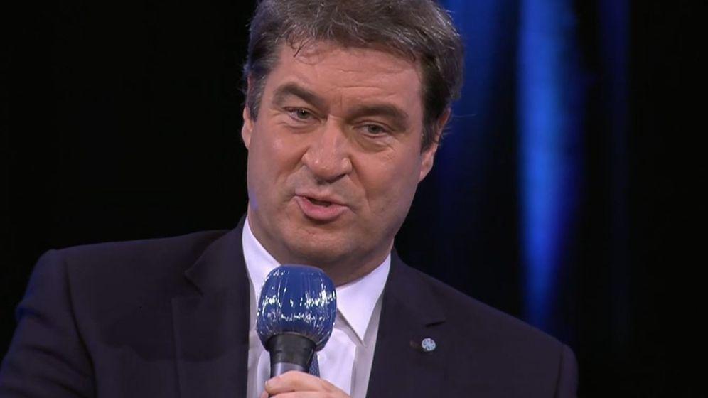 Ministerpräsident Söder im BR Fernsehen  | Bild:BR