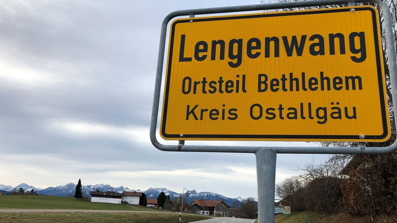 Bethlehem im Ostallgäu, Ortsschild