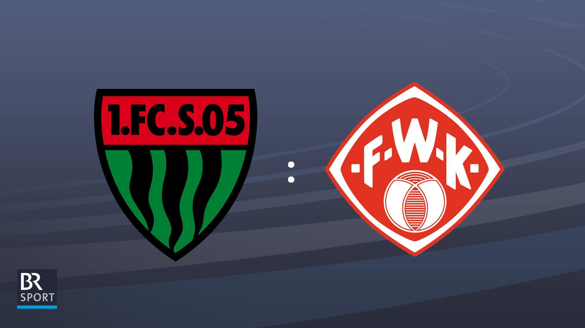 Partie FC Schweinfurt 05 gegen Würzburger Kickers