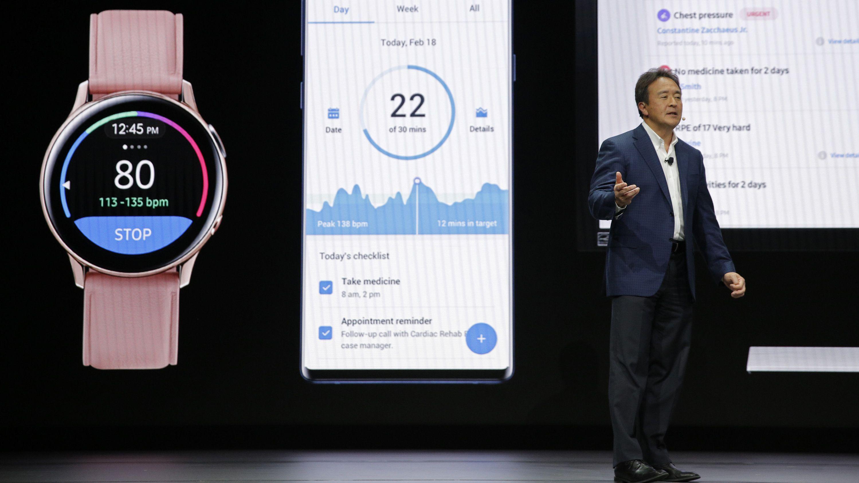 Eine Gesundheits-App wird auf der CES in Las Vegas vorgestellt