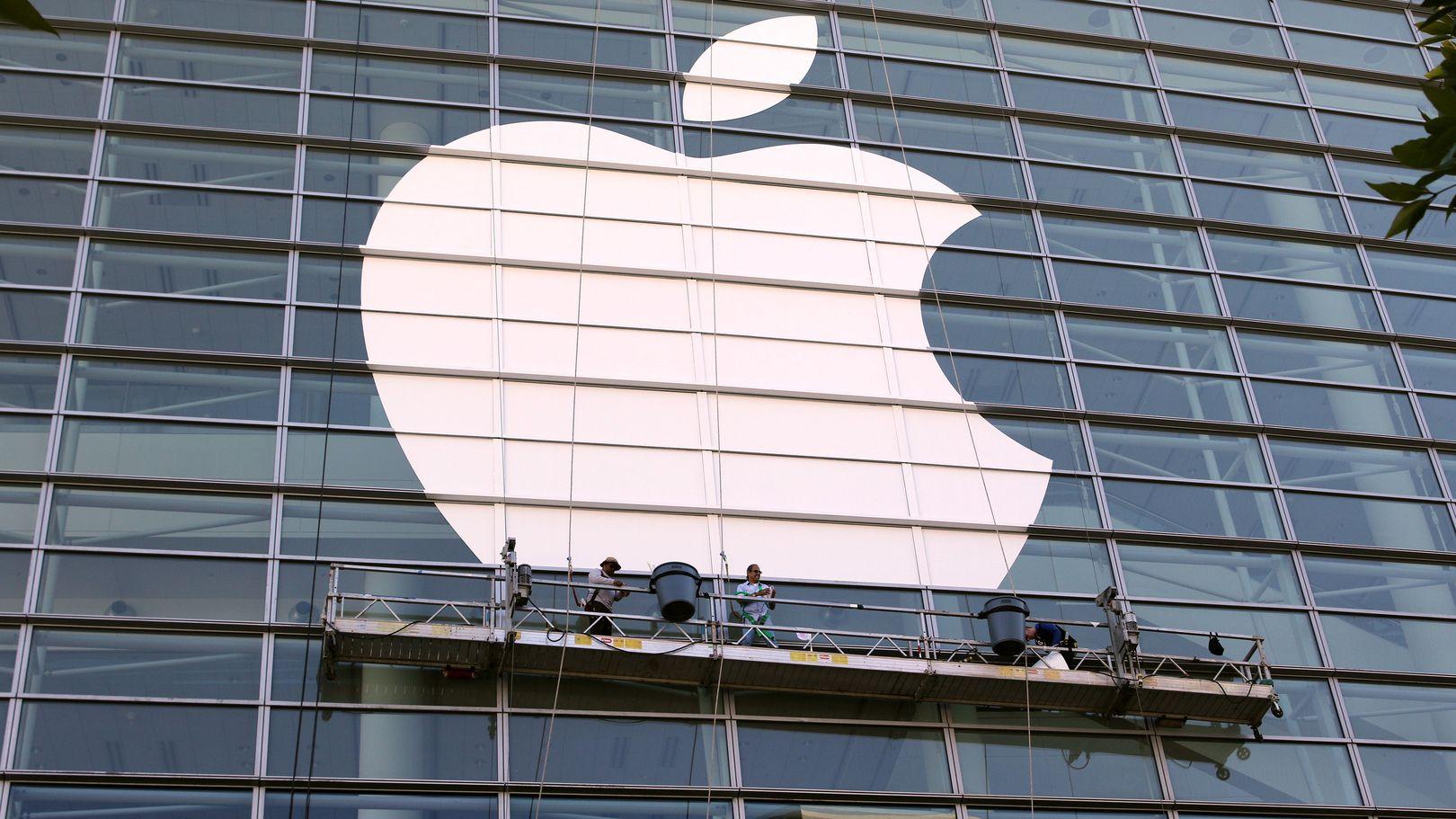 Fassade mit Apple-Logo