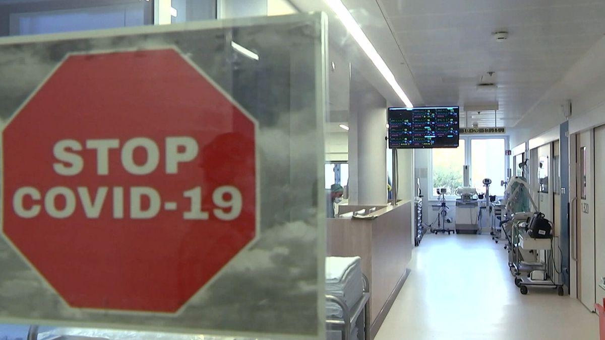 Eine Covid-19-Station in einer Klinik