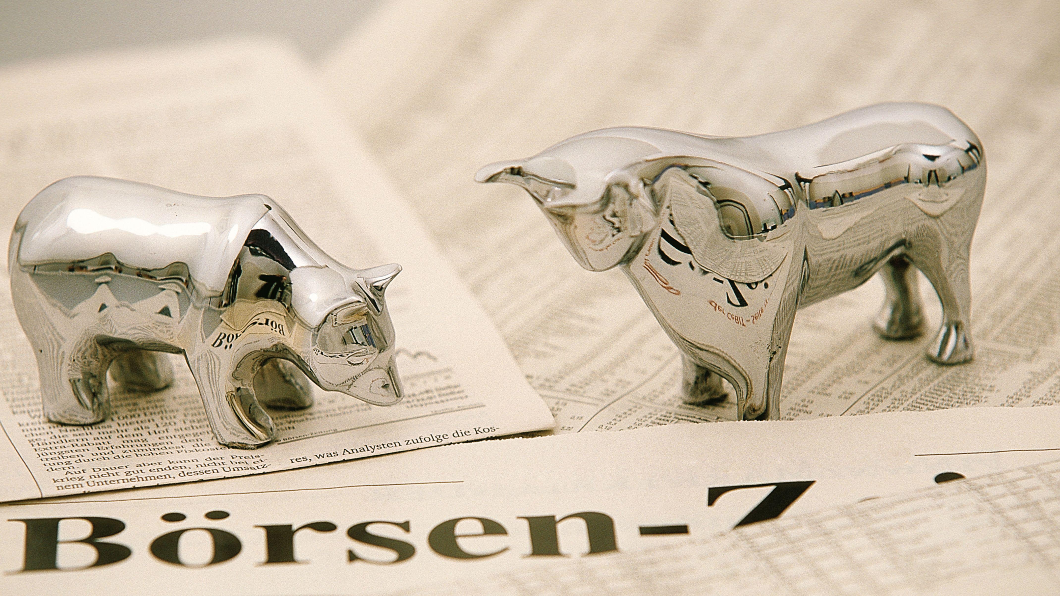 Bulle und Bär: Symbole für den Aktienmarkt