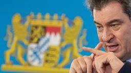 Ministerpräsident Söder  | Bild: Peter Kneffel/Pool via Reuters